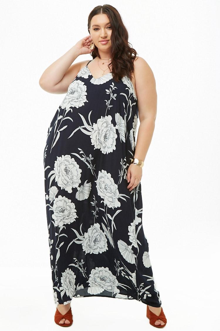 PLUS Plus Size Floral Cami Maxi Dress