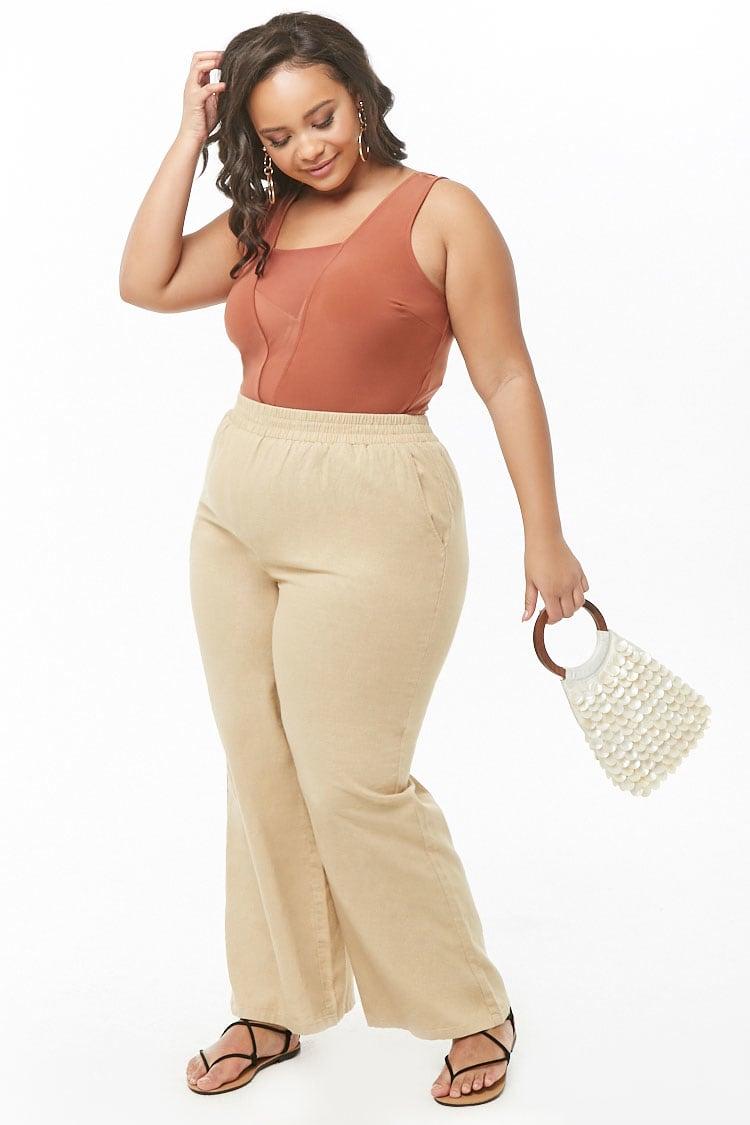 PLUS Plus Size Linen-Blend Pants