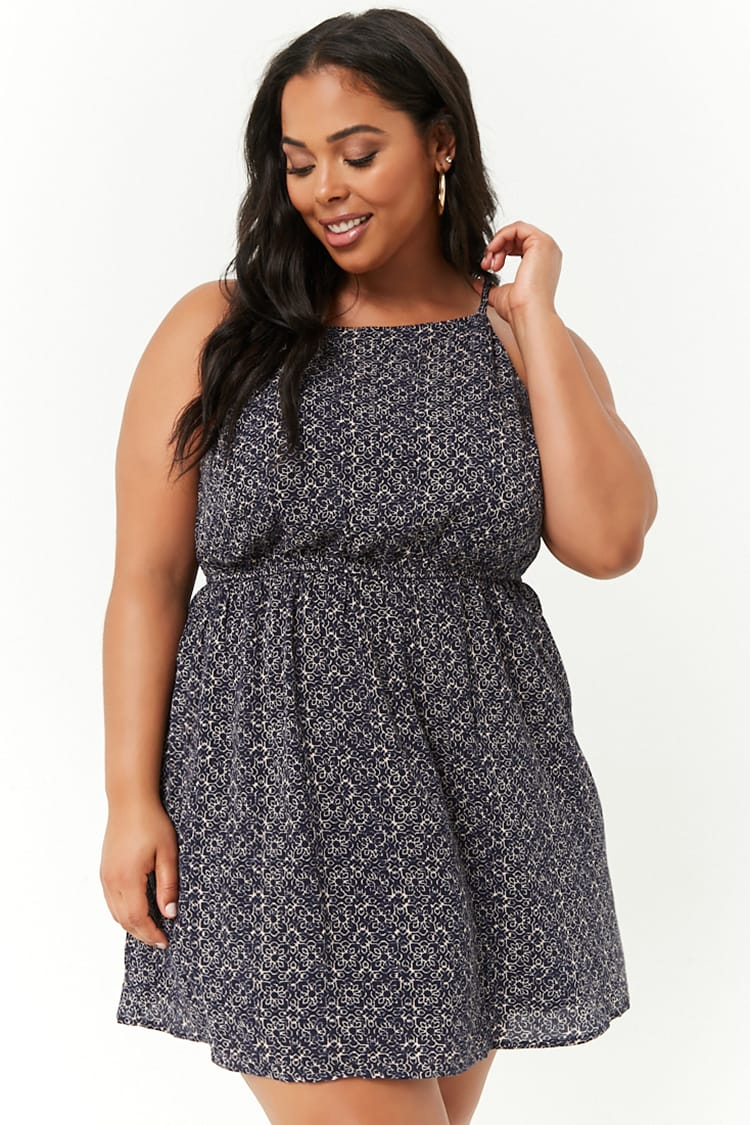 PLUS Plus Size Ornate Print Cami Dress