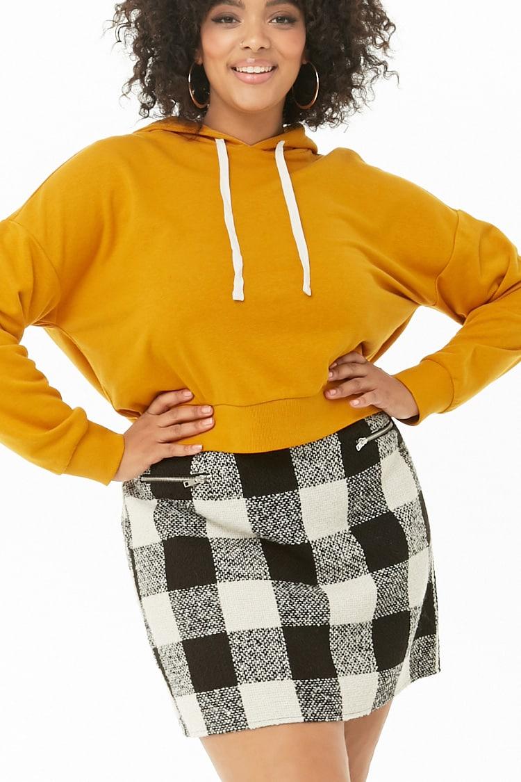 PLUS Plus Size Plaid Mini Skirt