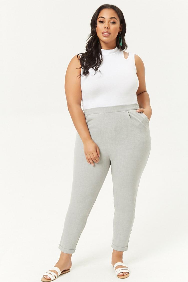 PLUS Plus Size Pleat Front Pants