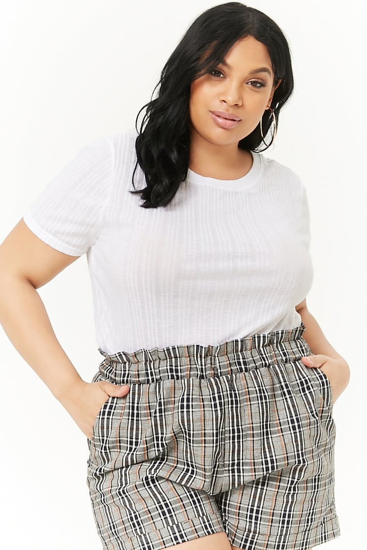 PLUS Plus Size Ribbed Top
