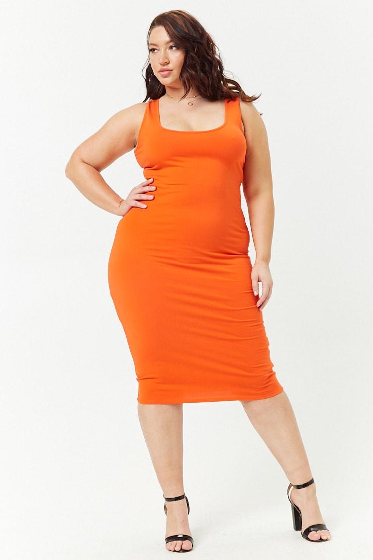 PLUS Plus Size Square-Neck Tank Dress