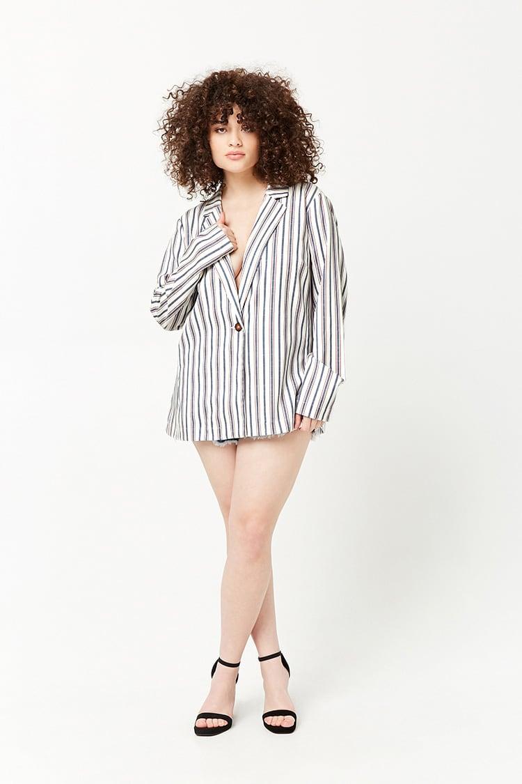 PLUS Plus Size Striped Blazer