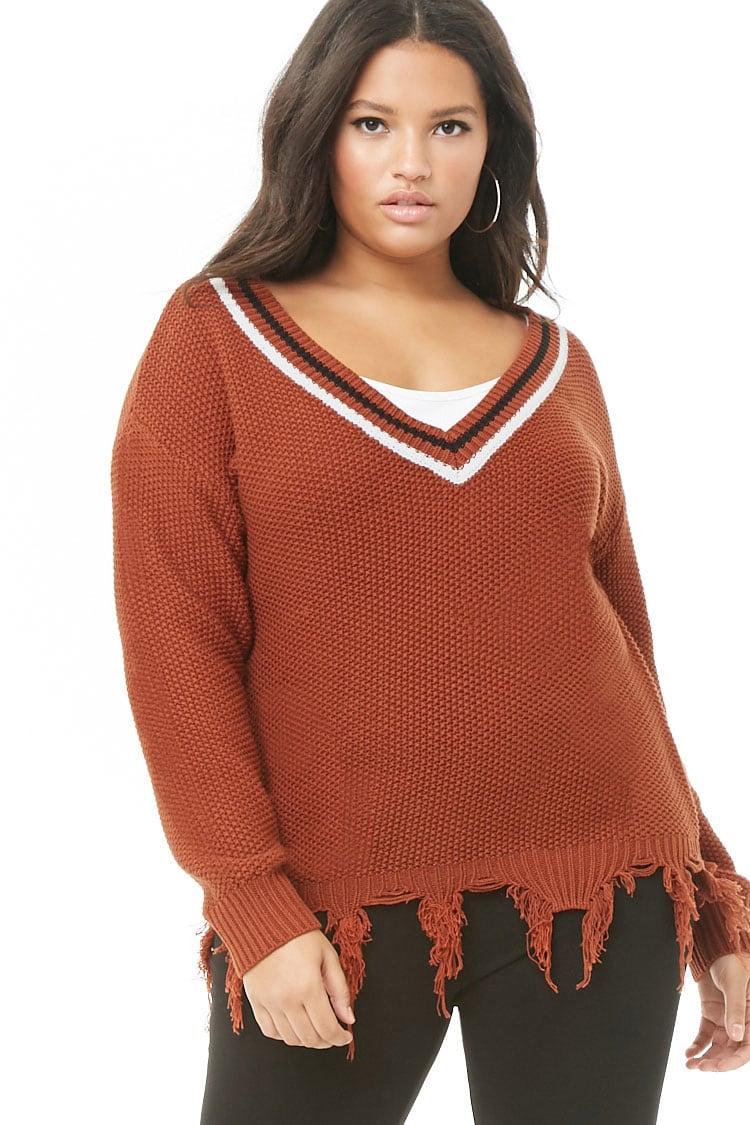 PLUS Plus Size Striped Sweater