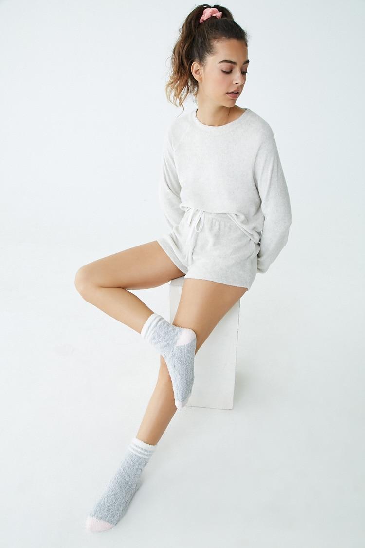 F21 Plush Lounge Shorts