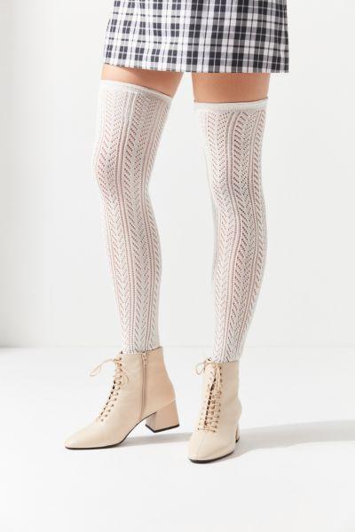 Pointelle Thigh High Sock