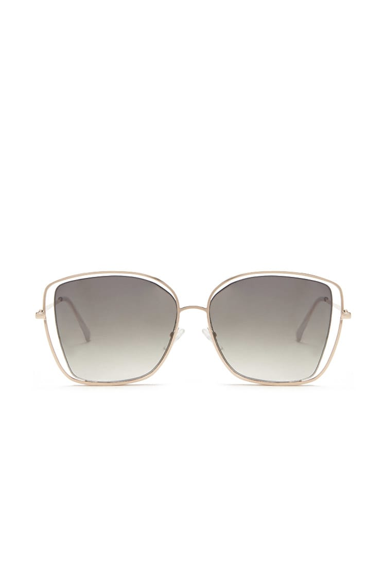 F21 Premium Cutout Square Sunglasses