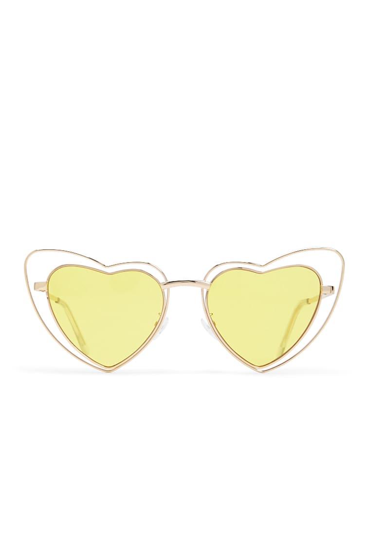 F21 Premium Heart-Shaped Sunglasses