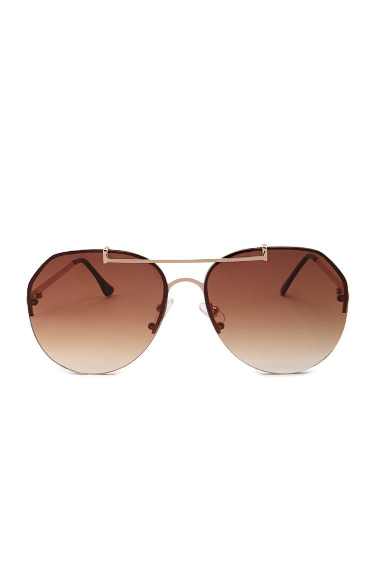 F21 Premium Rimless Aviator Sunglasses