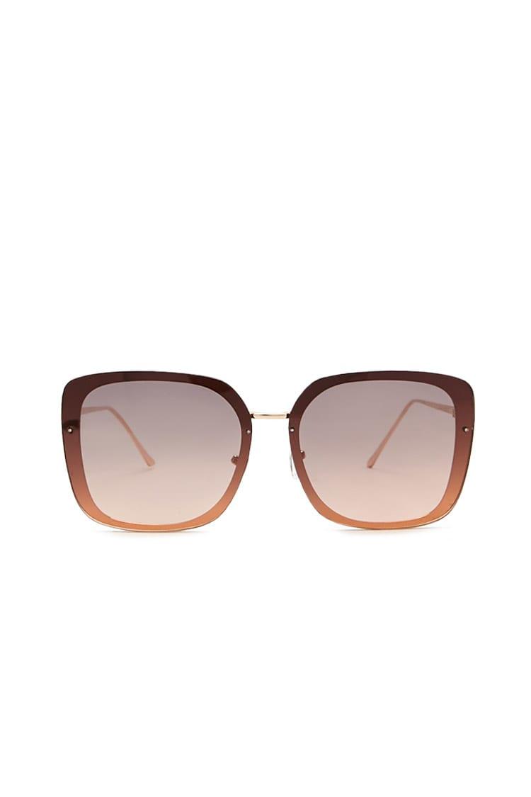 F21 Premium Square Metal Sunglasses