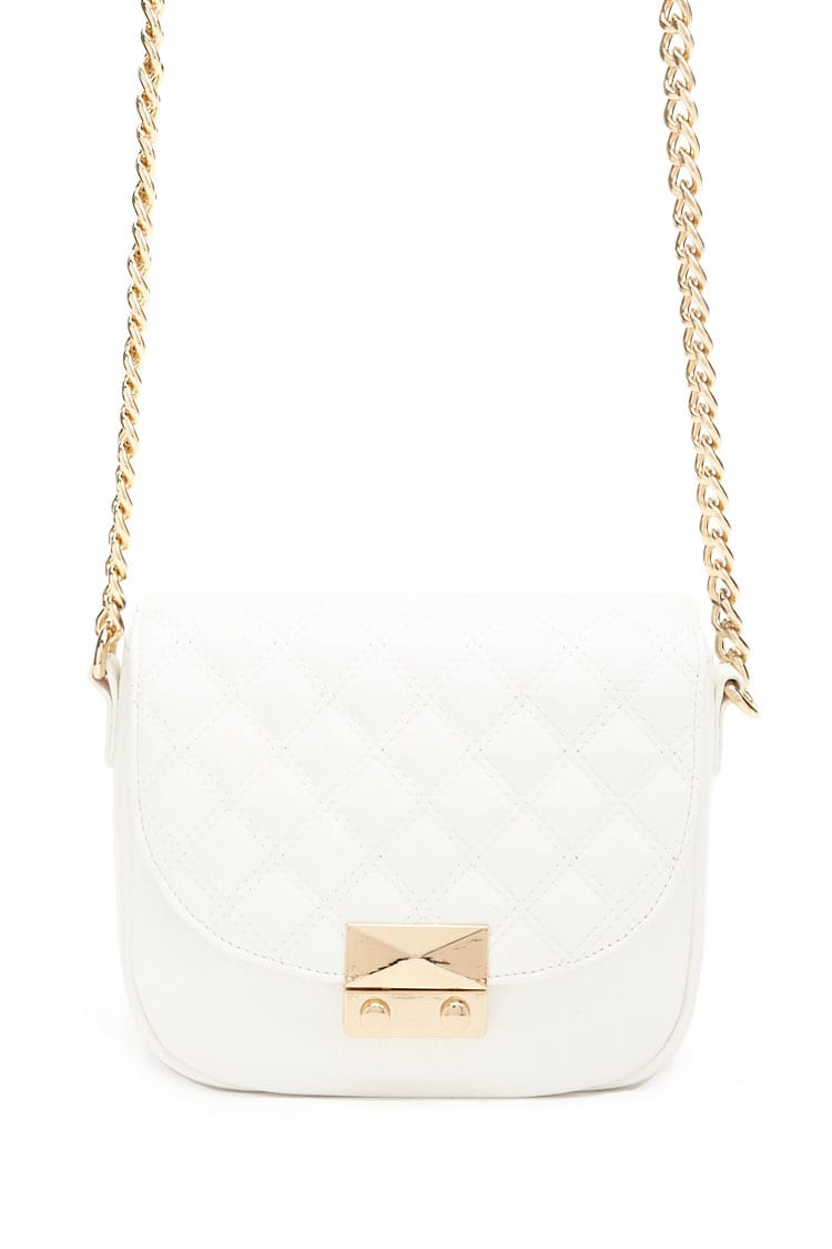 F21 Quilted Crossbody Bag