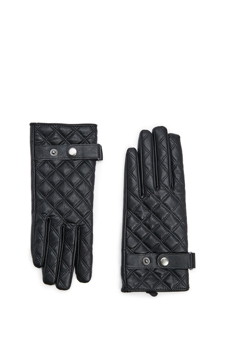 F21 Quilted Faux Leather Gloves