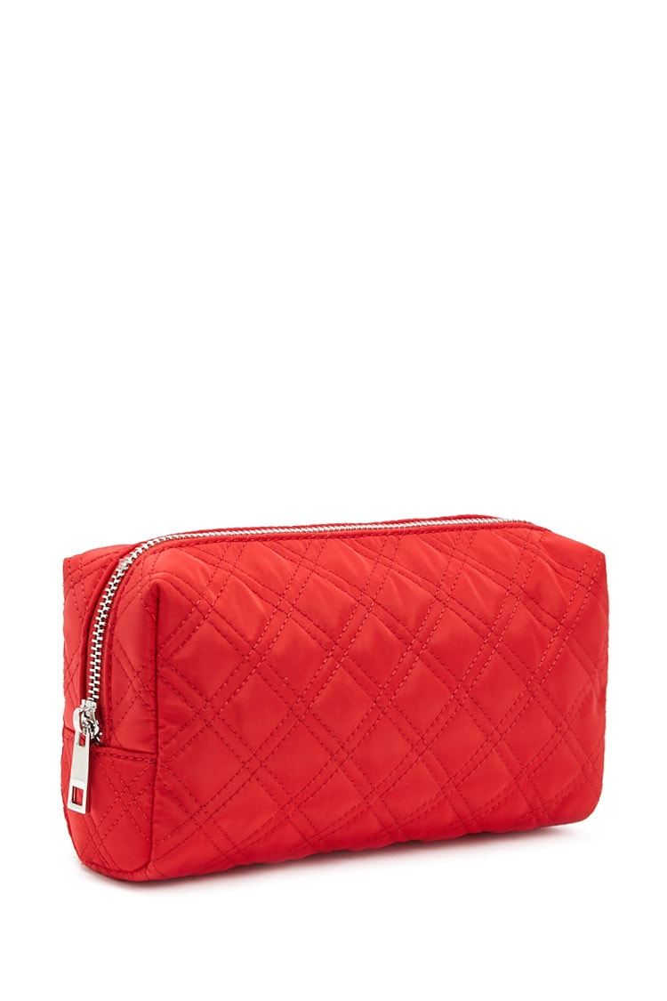 F21 Quilted Makeup Bag