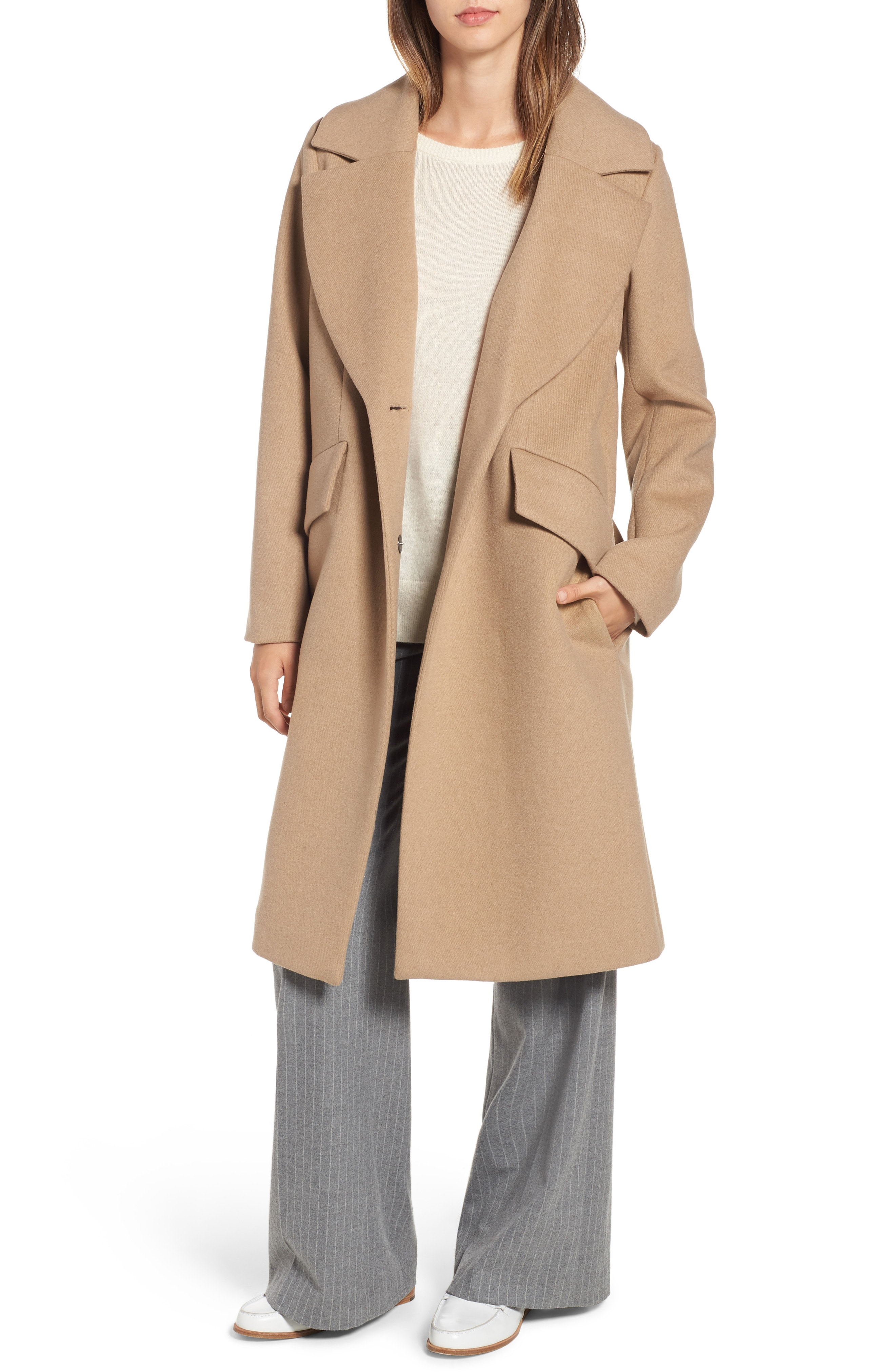 RACHEL Rachel Roy Wool Blend Coat