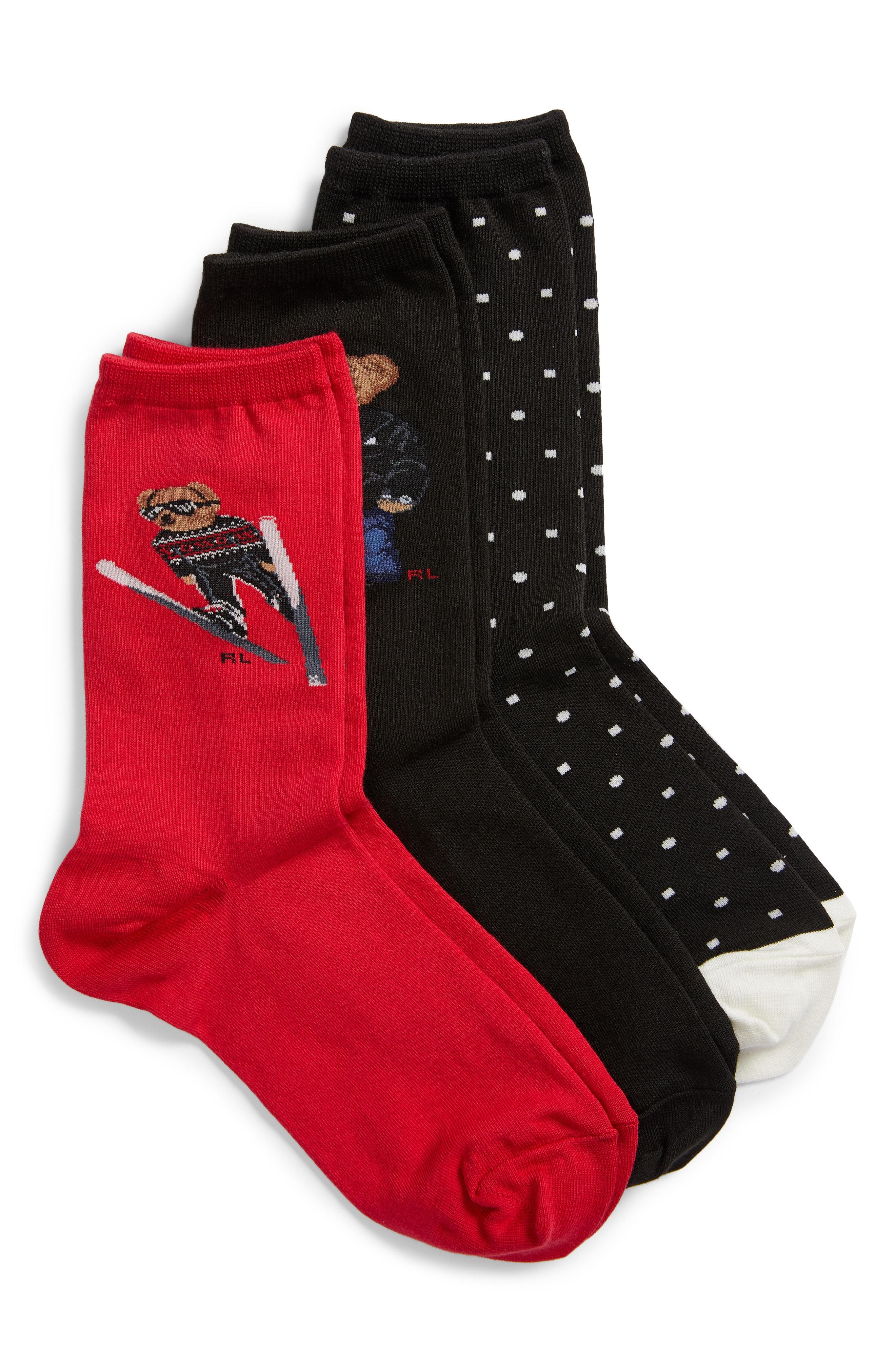 Ralph Lauren 3-Pack Winter Bears Socks