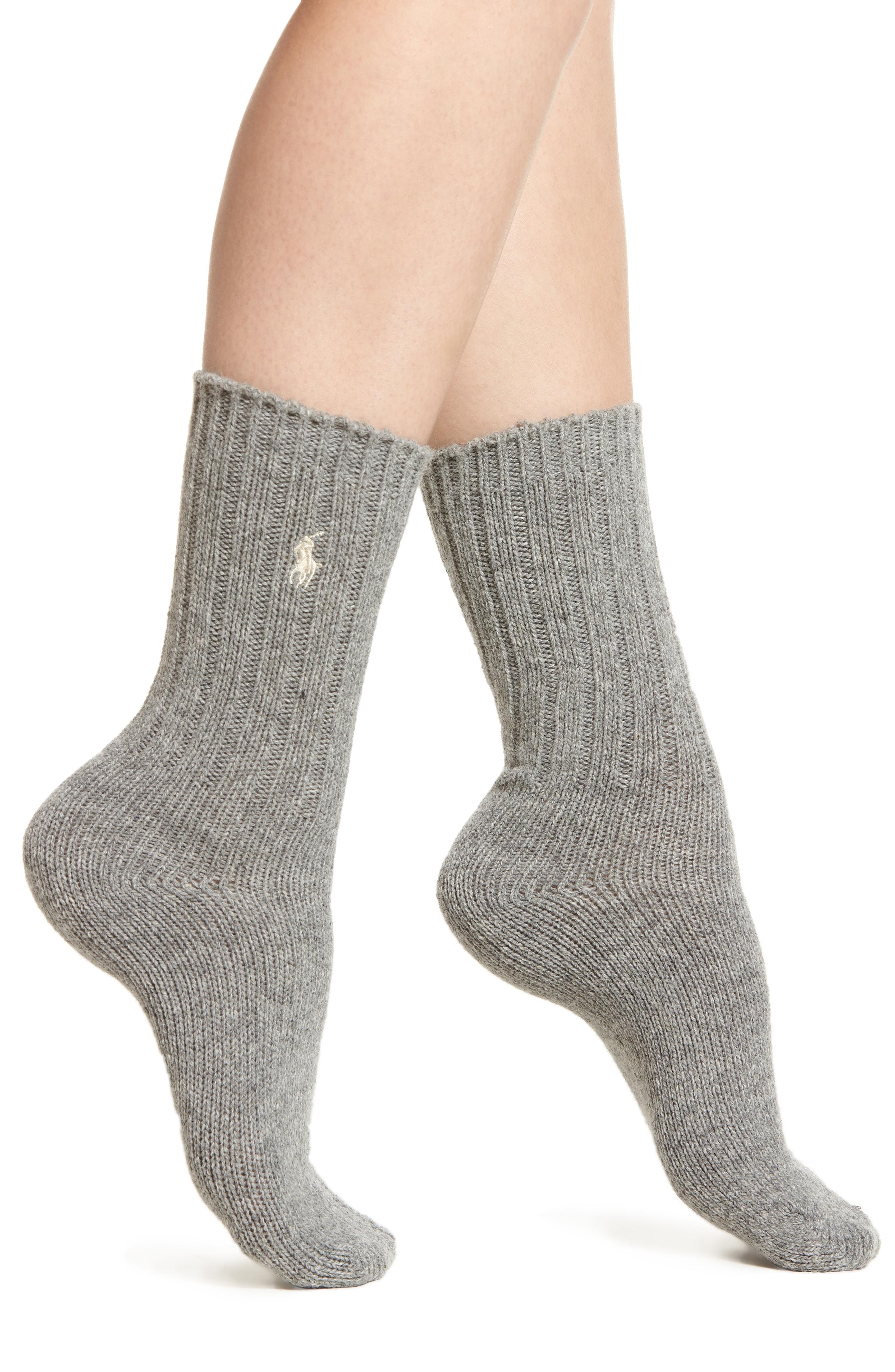 Ralph Lauren Wool Rib Boot Socks (2 for $24)