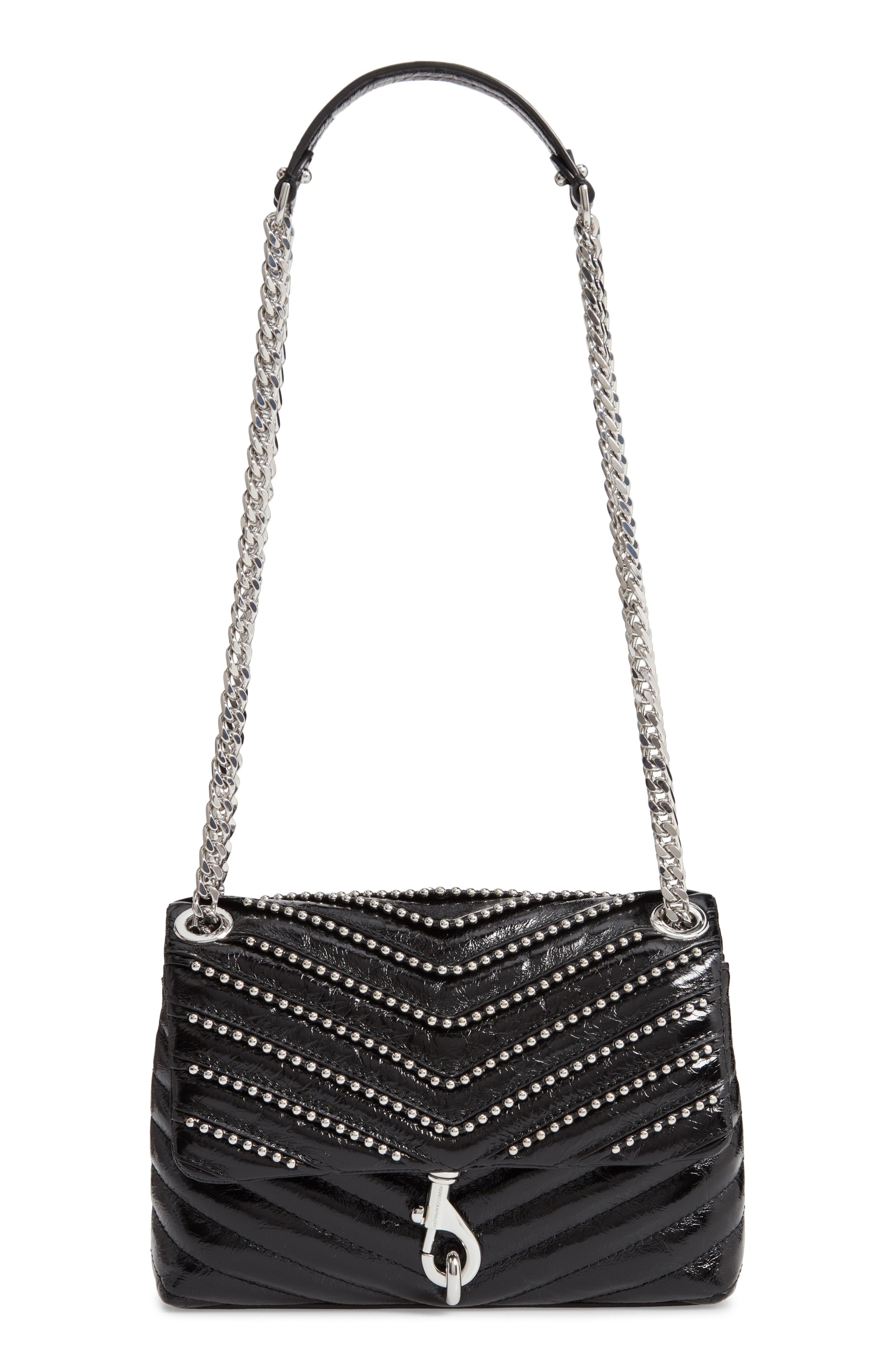 Rebecca Minkoff Edie Beaded Leather Crossbody Bag