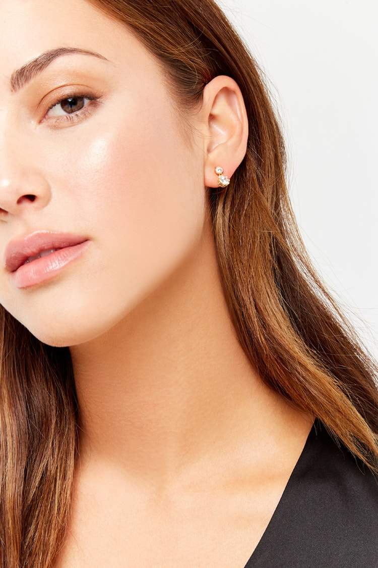 F21 Rhinestone Stud Earrings