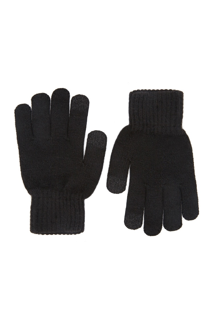 F21 Ribbed Trim Knit Gloves