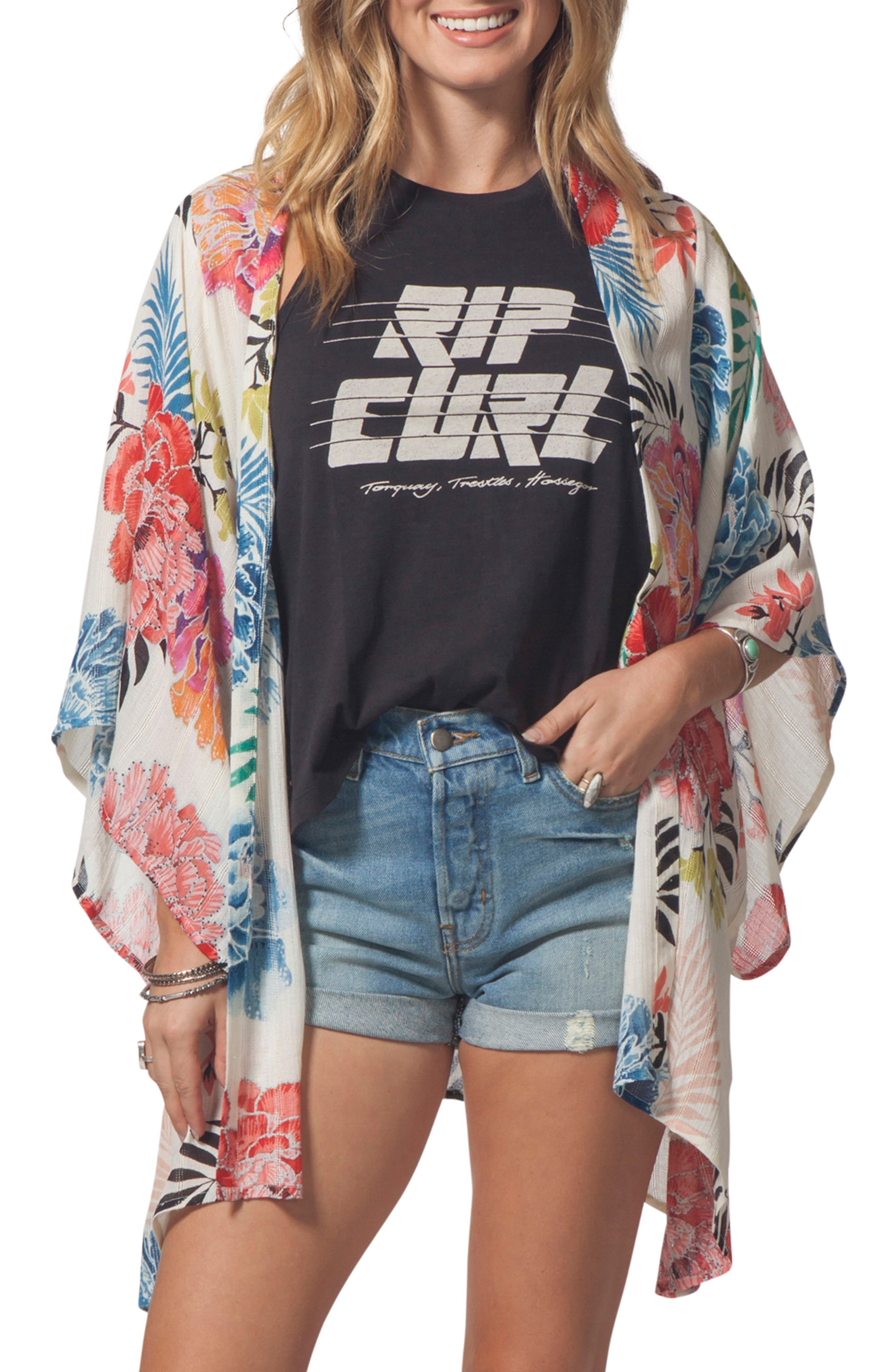 Rip Curl Delilah Print Kimono
