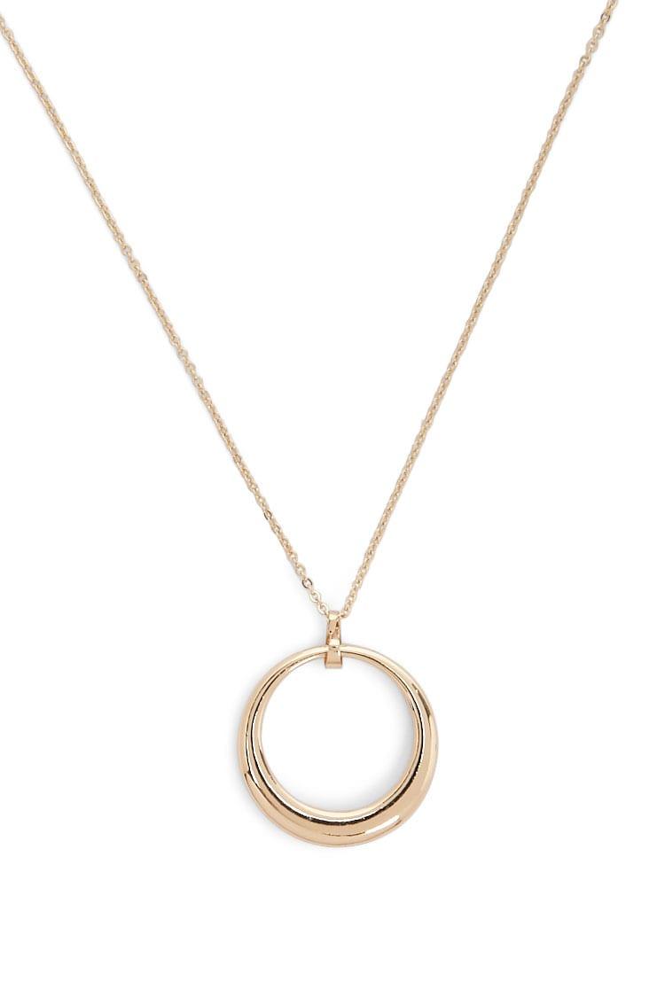 F21 Round Pendant Necklace