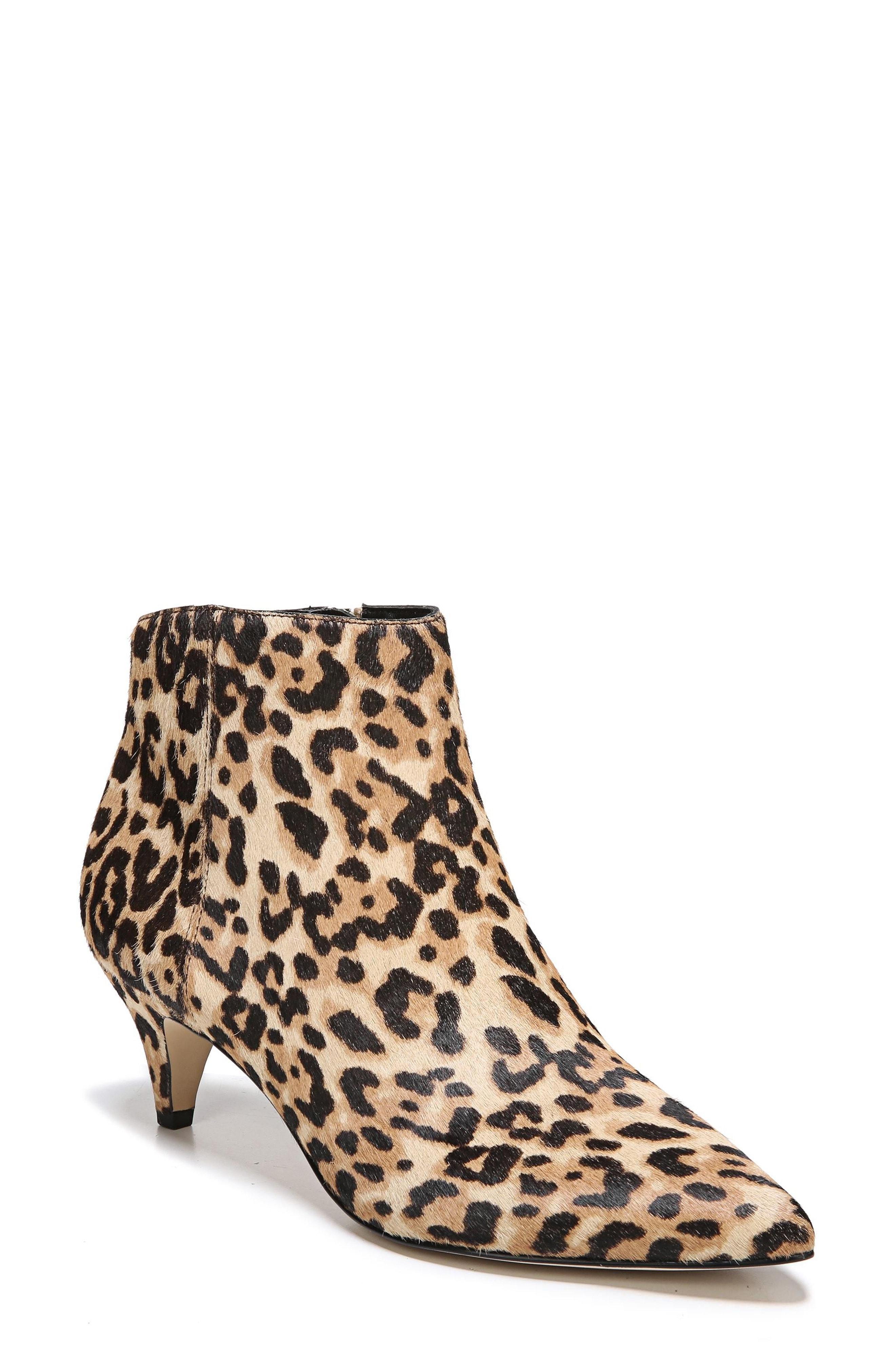 Sam Edelman Kinzey Genuine Calf Hair Pointy Toe Bootie (Women)