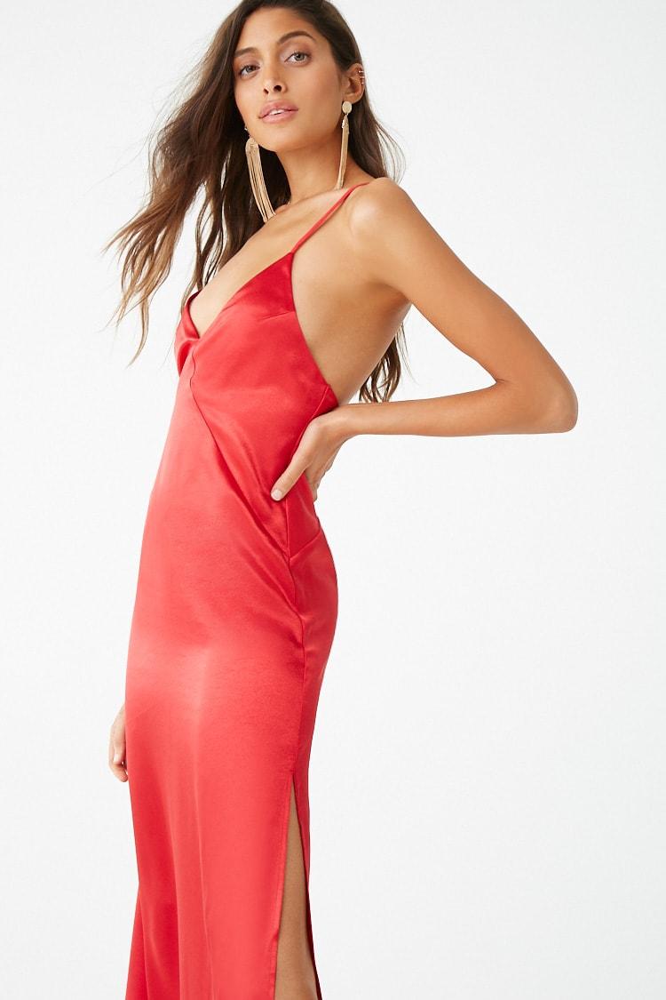 F21 Satin Cami Dress