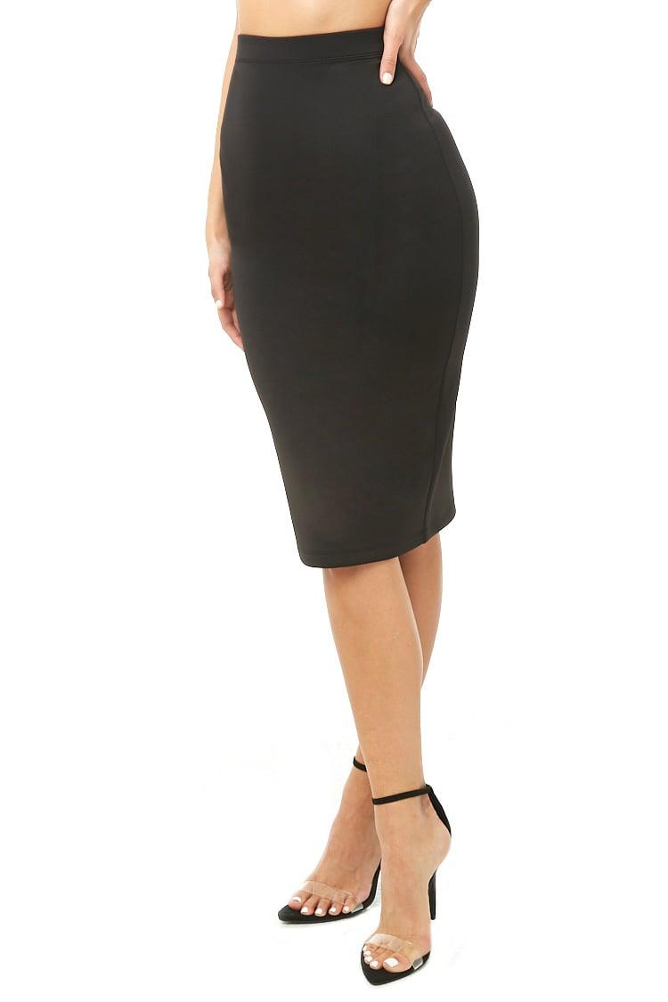 F21 Scuba Knit Pencil Skirt