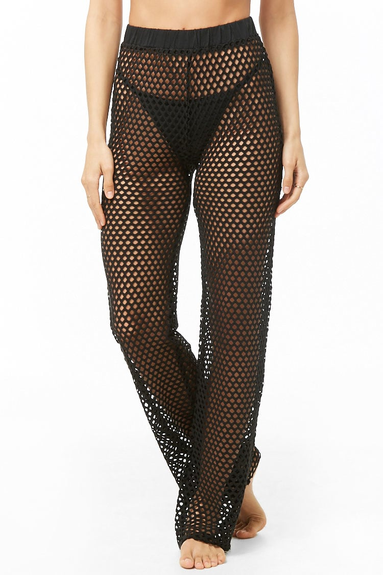 F21 Sheer Mesh Swim Cover-Up Pants