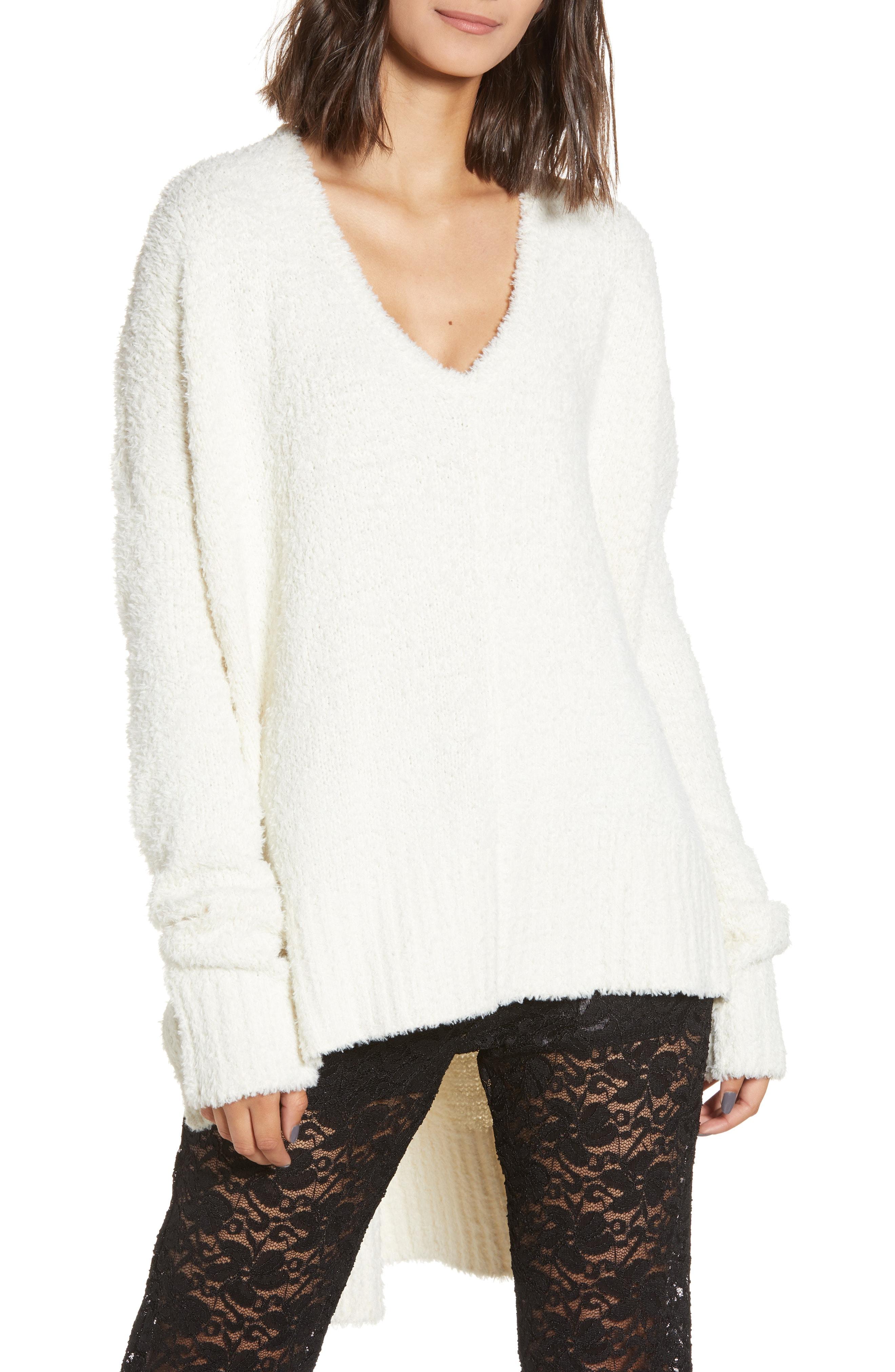 Show Me Your Mumu Coconut Cream Fuzzy Sweater