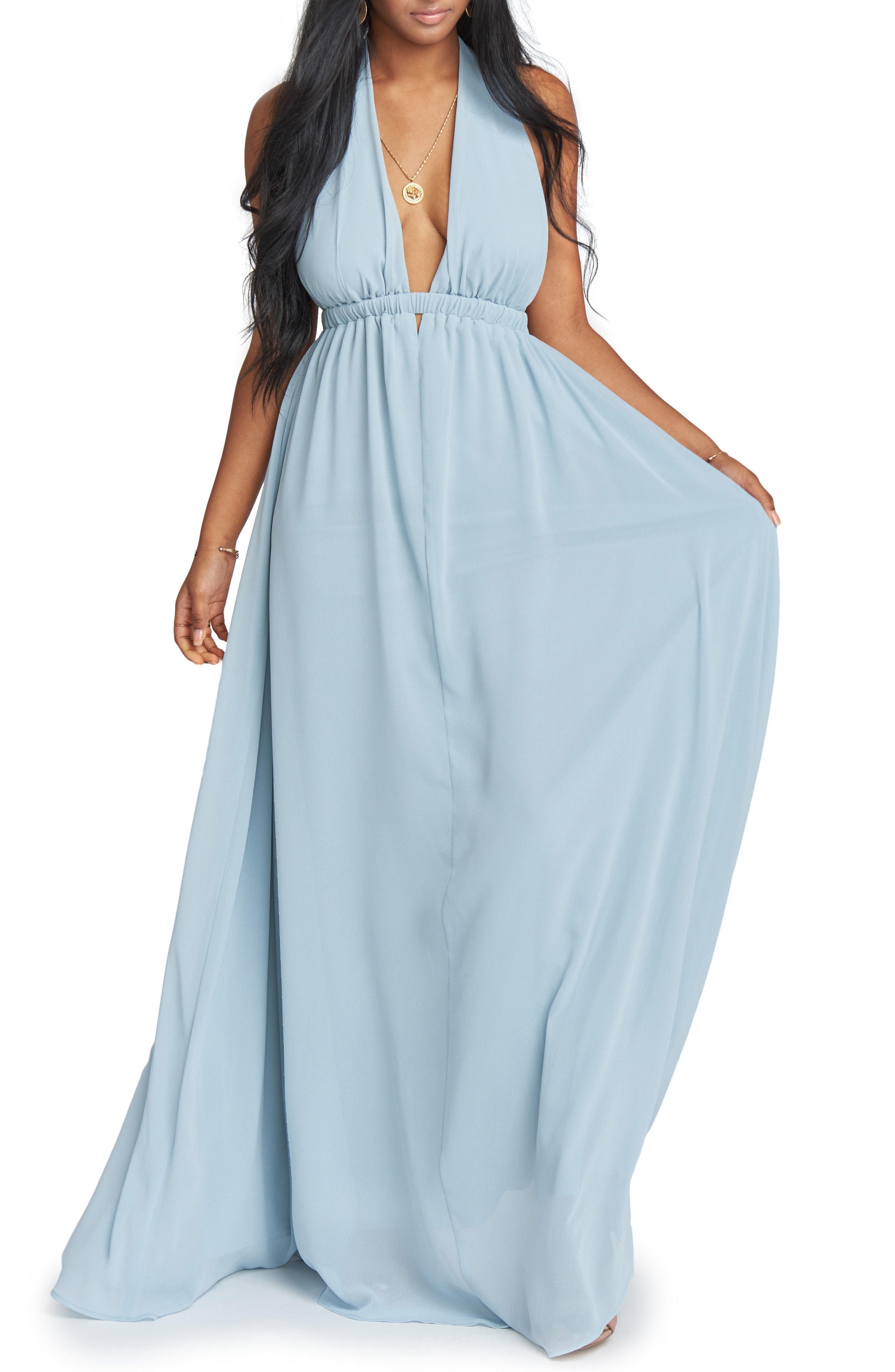Show Me Your Mumu Luna Halter Gown