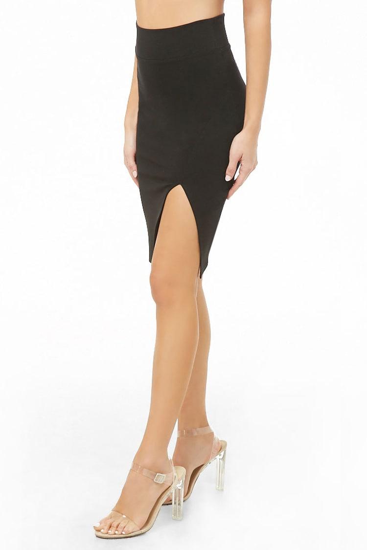 F21 Side-Slit Pencil Skirt