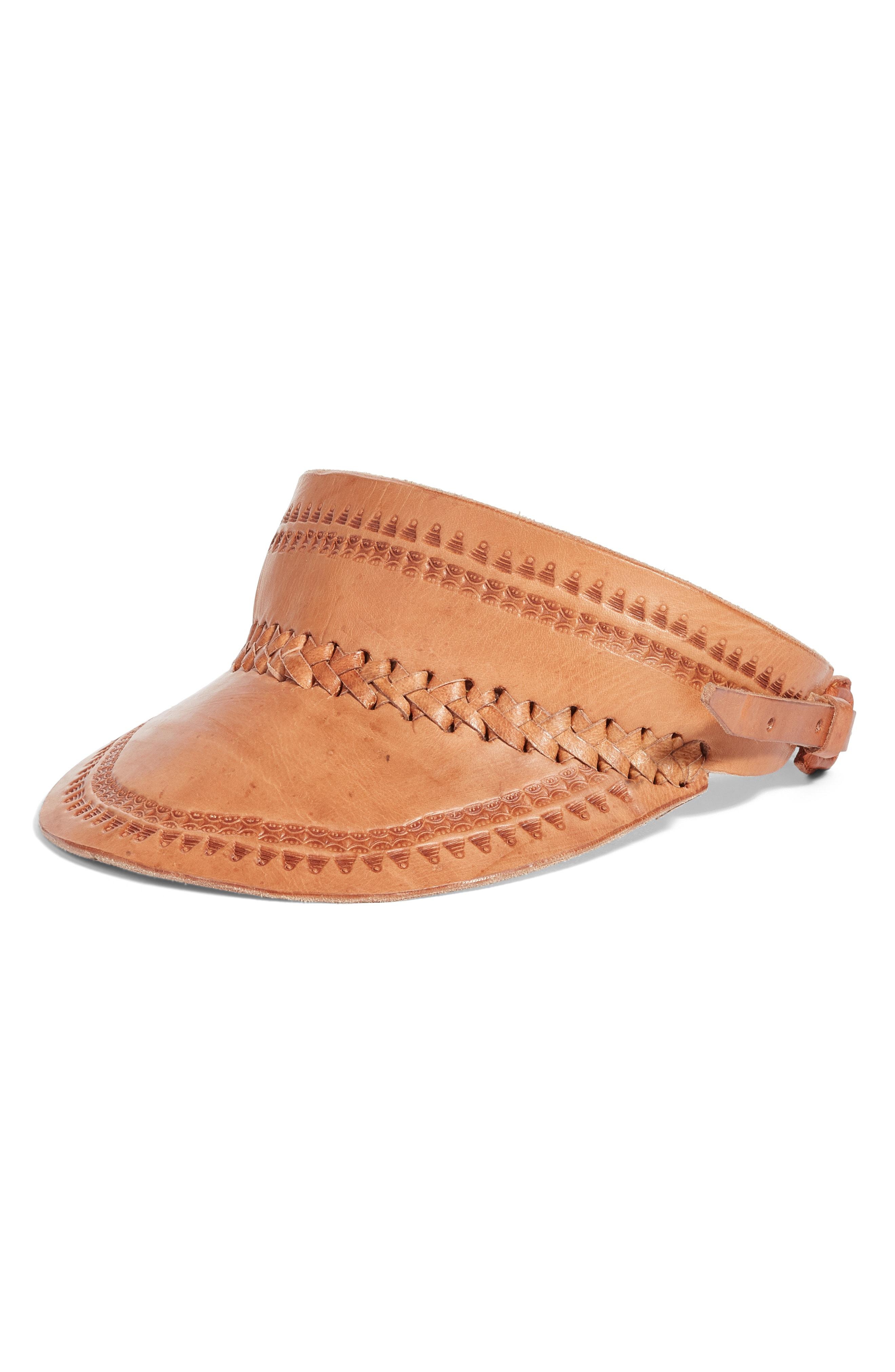 Siempre Viva Leather Visor