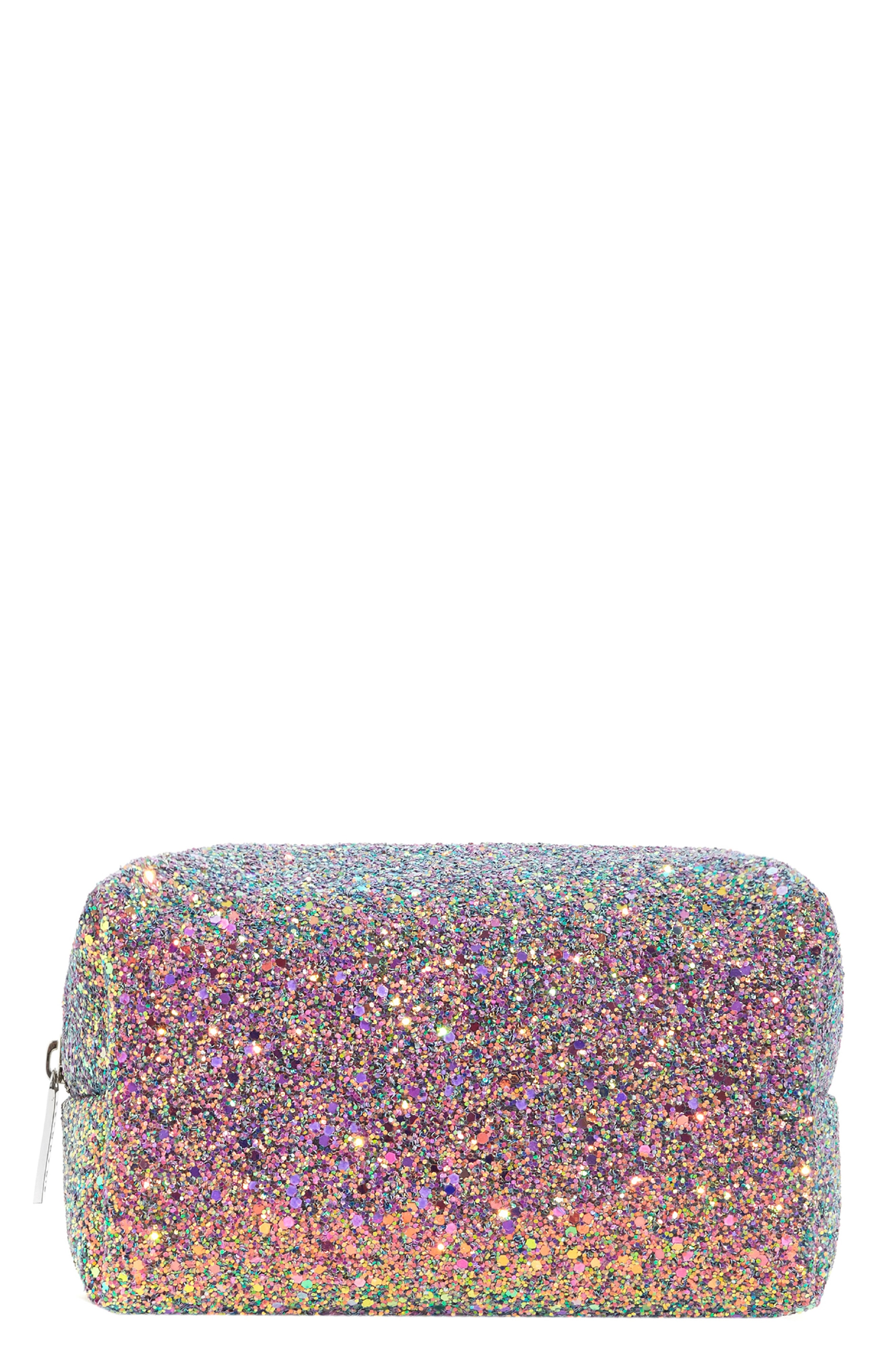SkinnyDip Purple Glitter Makeup Bag