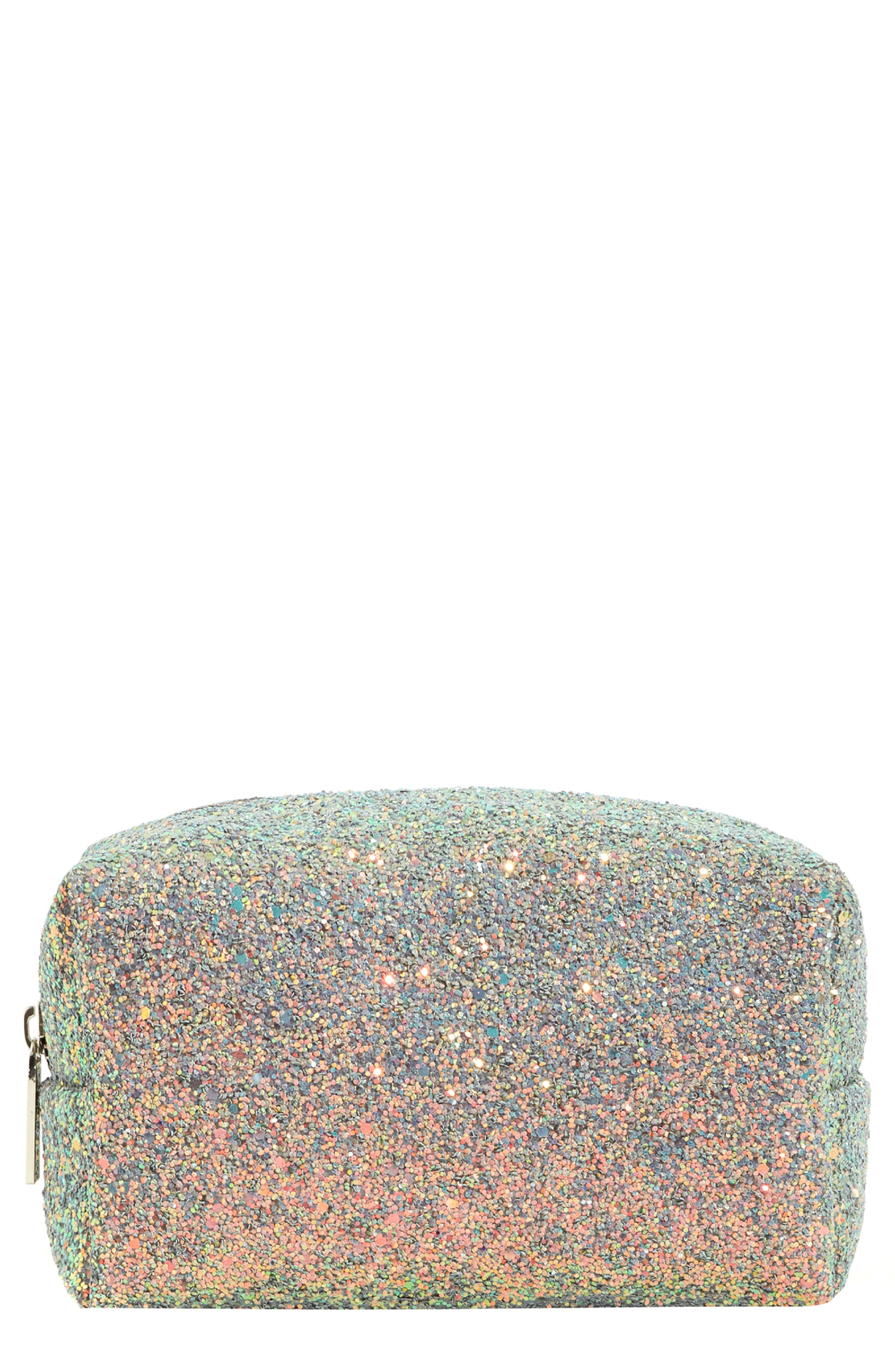 SkinnyDip Teal Glitter Makeup Bag
