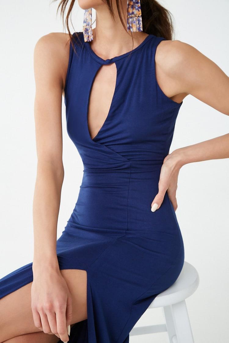 F21 Sleeveless Cutout Maxi Dress