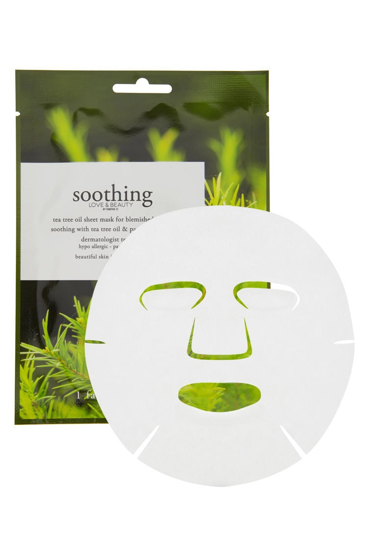 F21 Soothing Tea Tree Oil Face Mask