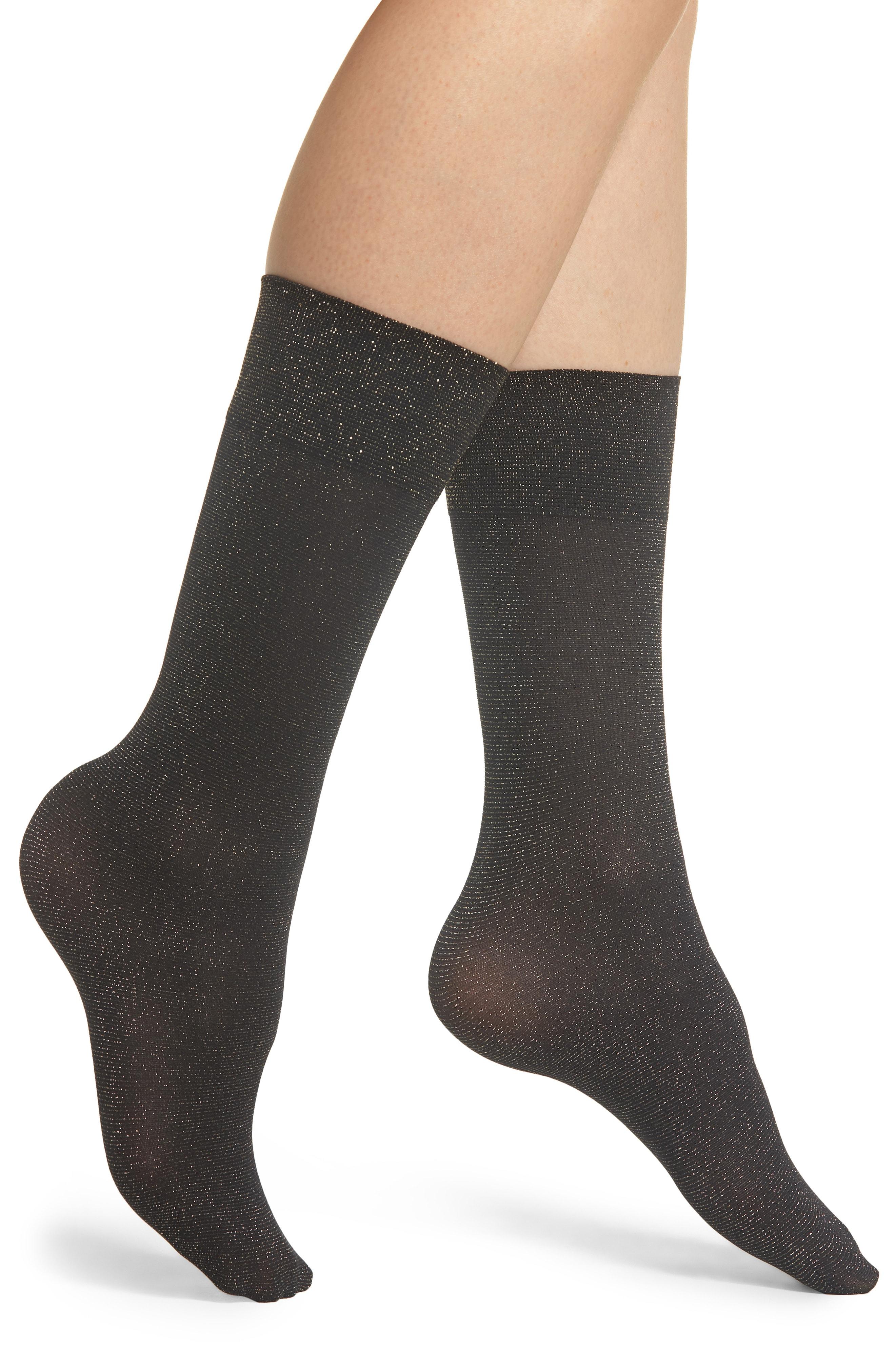 SPANX Gold Shimmer Opaque Trouser Socks