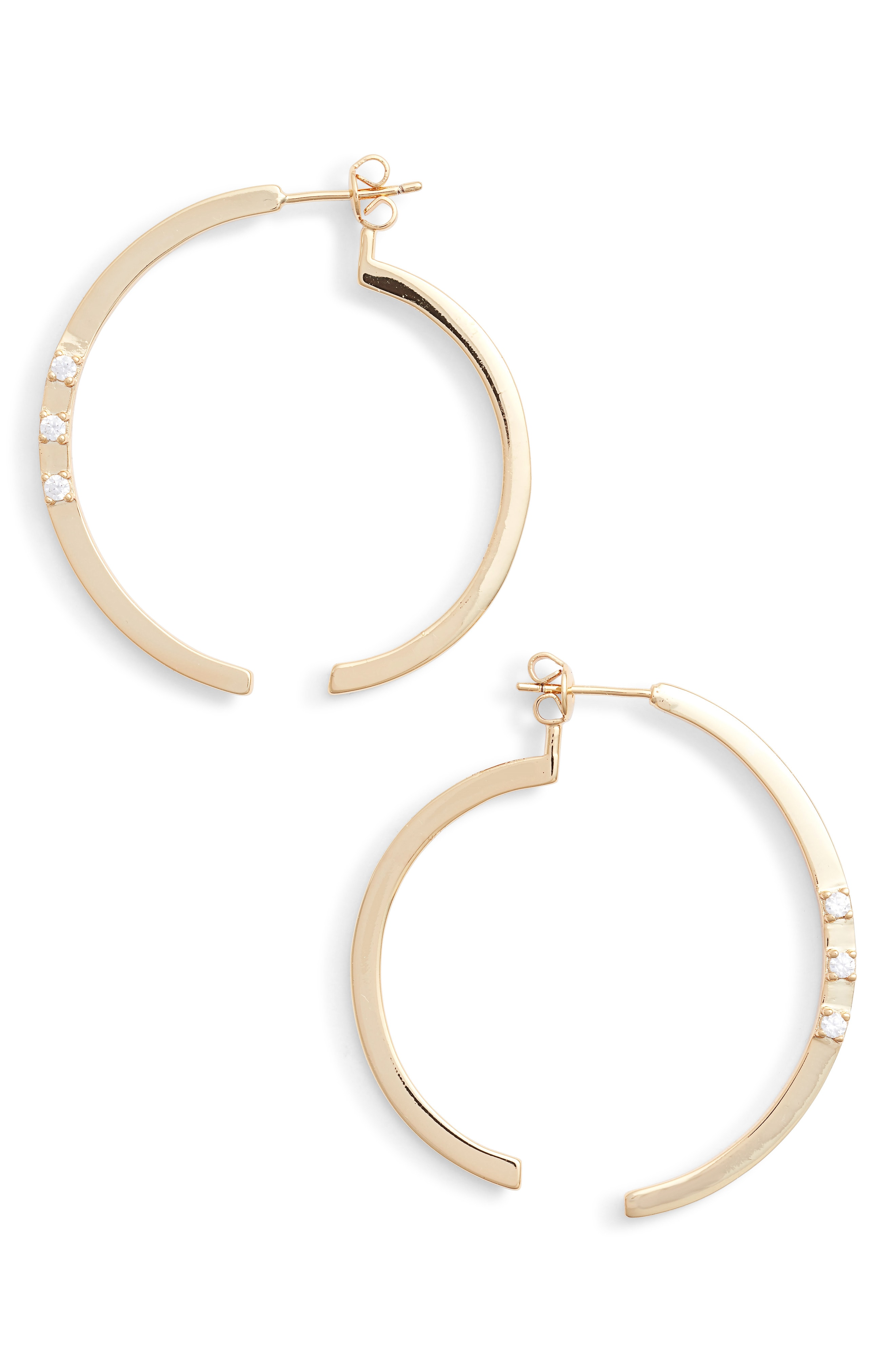 Sterling Forever Circle Illusion Hoop Earrings