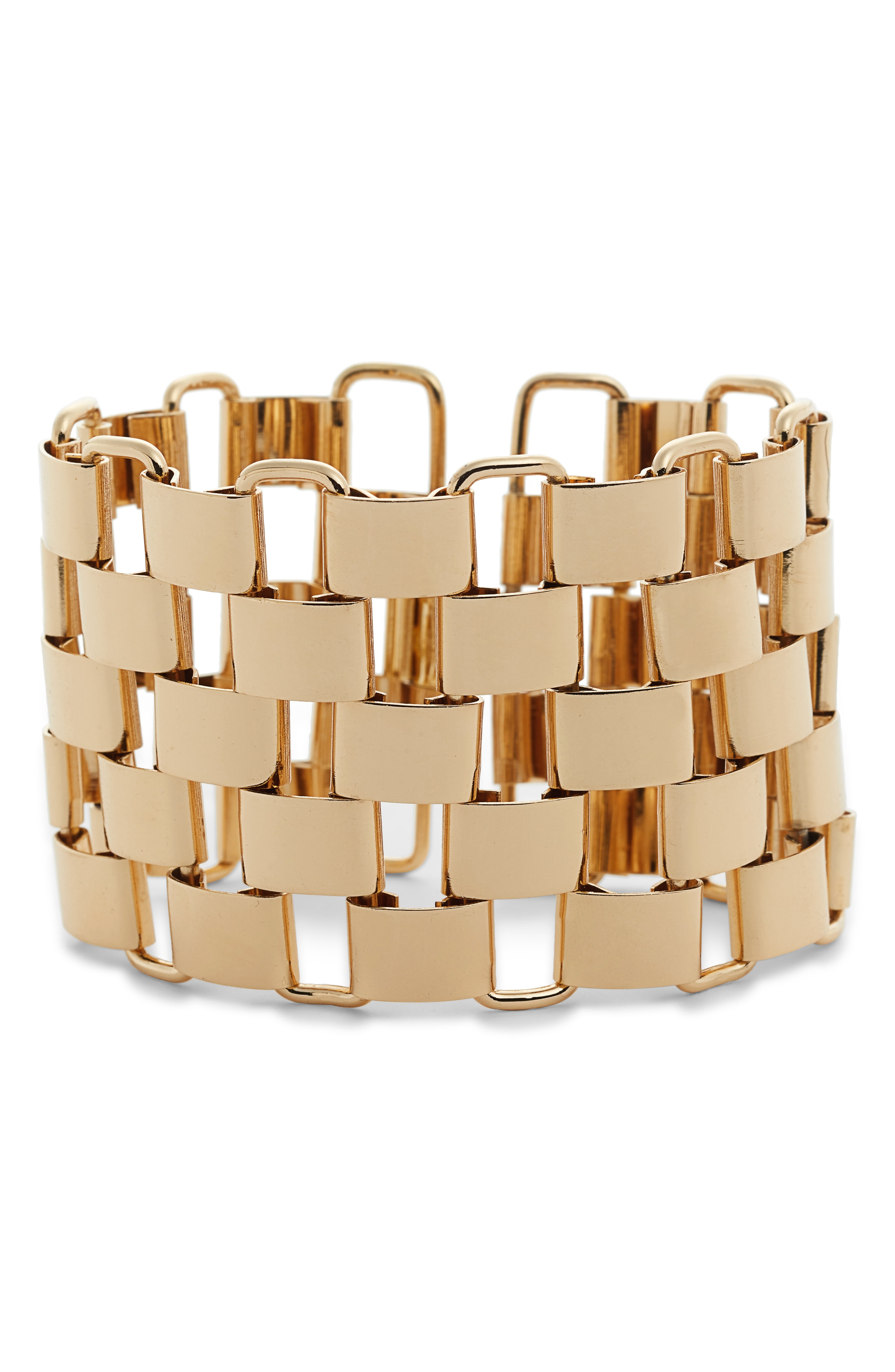 Sterling Forever Entwined Chunky Statement Cuff