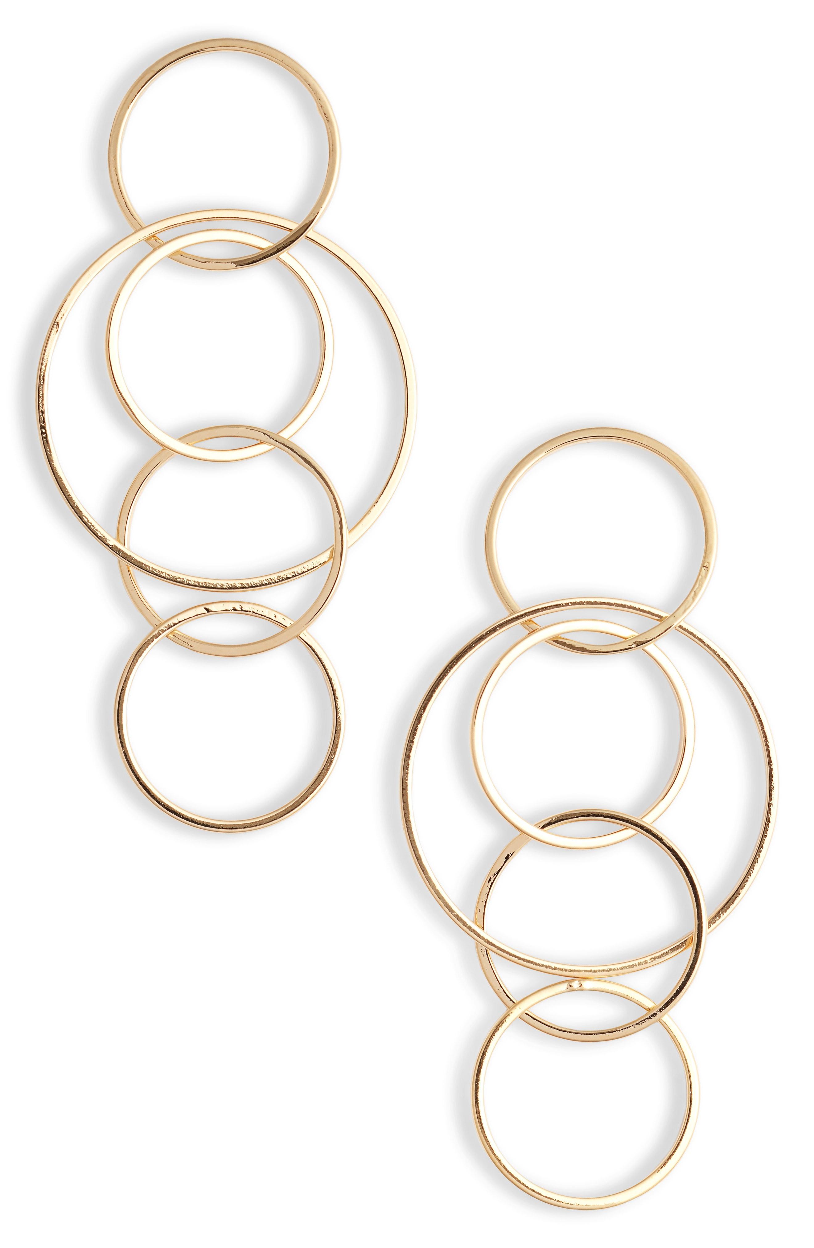 Sterling Forever Linked Hoop Drop Earrings