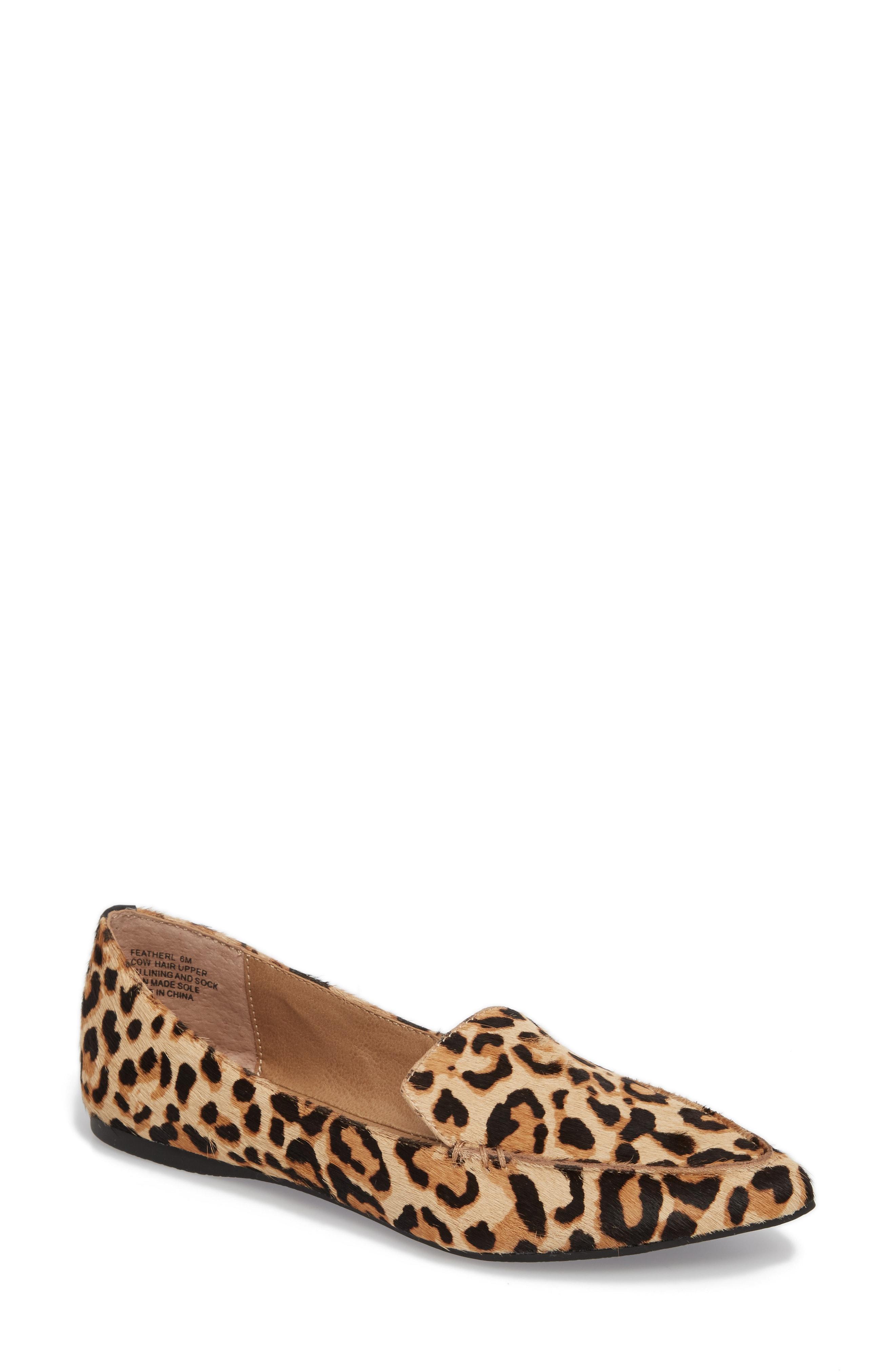 Steve Madden Feather-L Genuine Calf Hair Loafer Flat (Women)