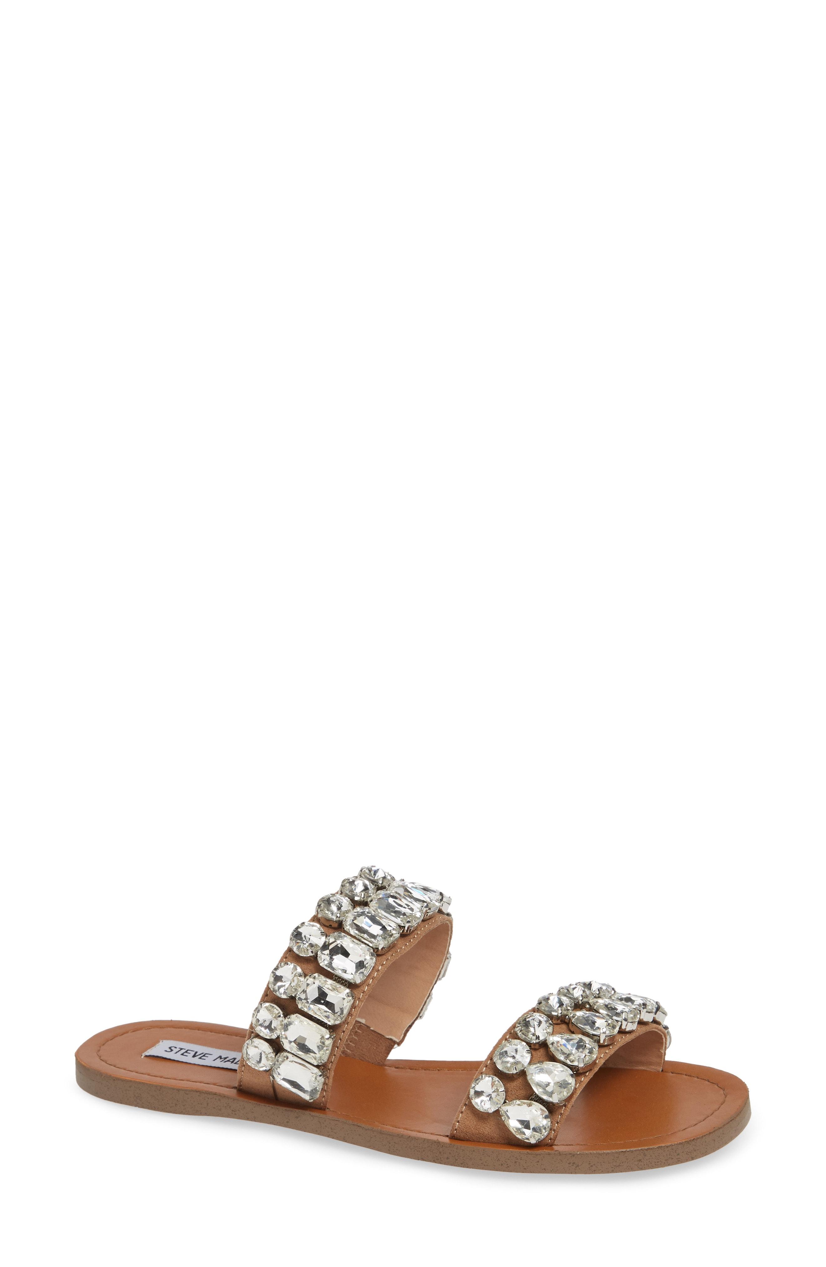 Steve Madden Reason Embellished Slide Sandal (Women)