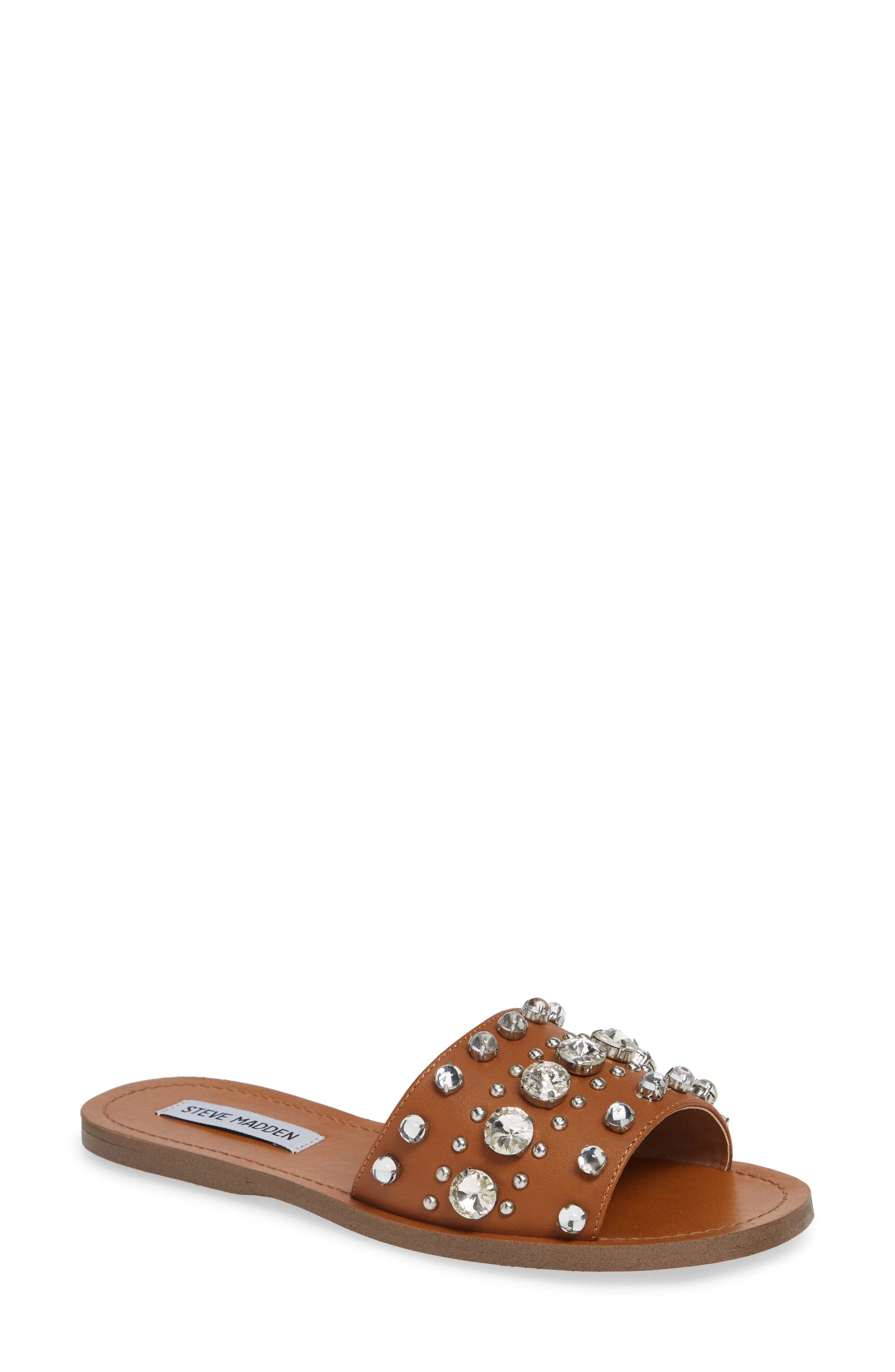 Steve Madden Regent Embellished Slide Sandal (Women)