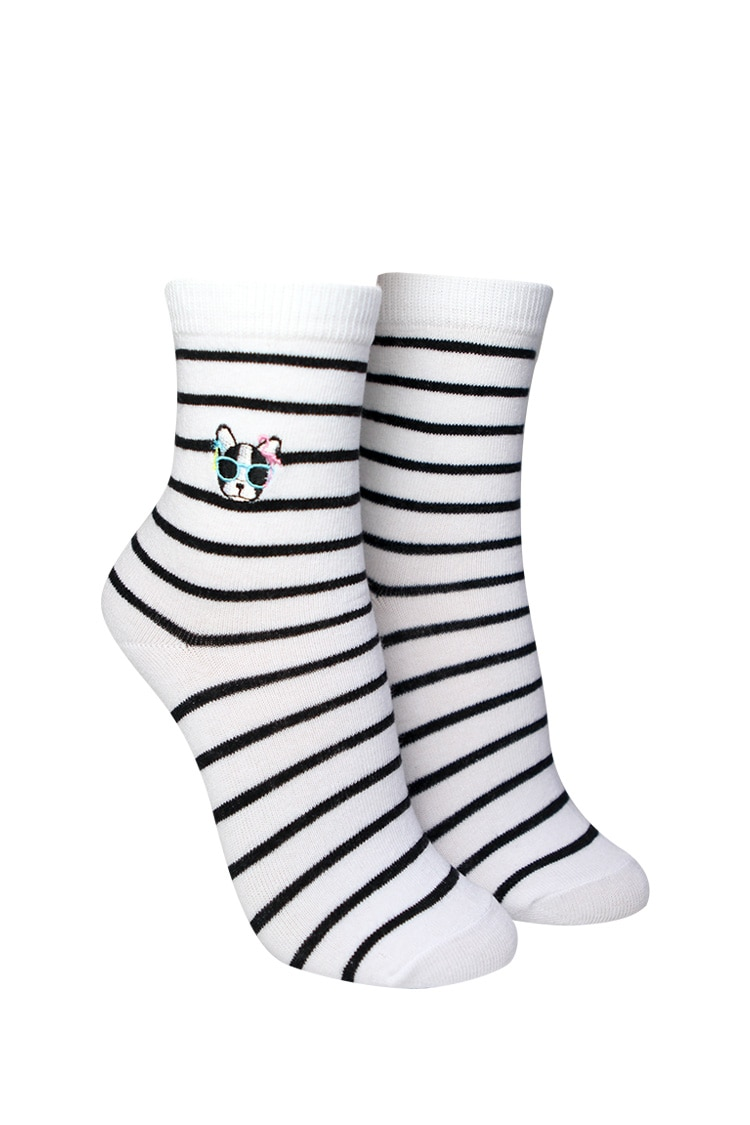 F21 Striped Crew Socks