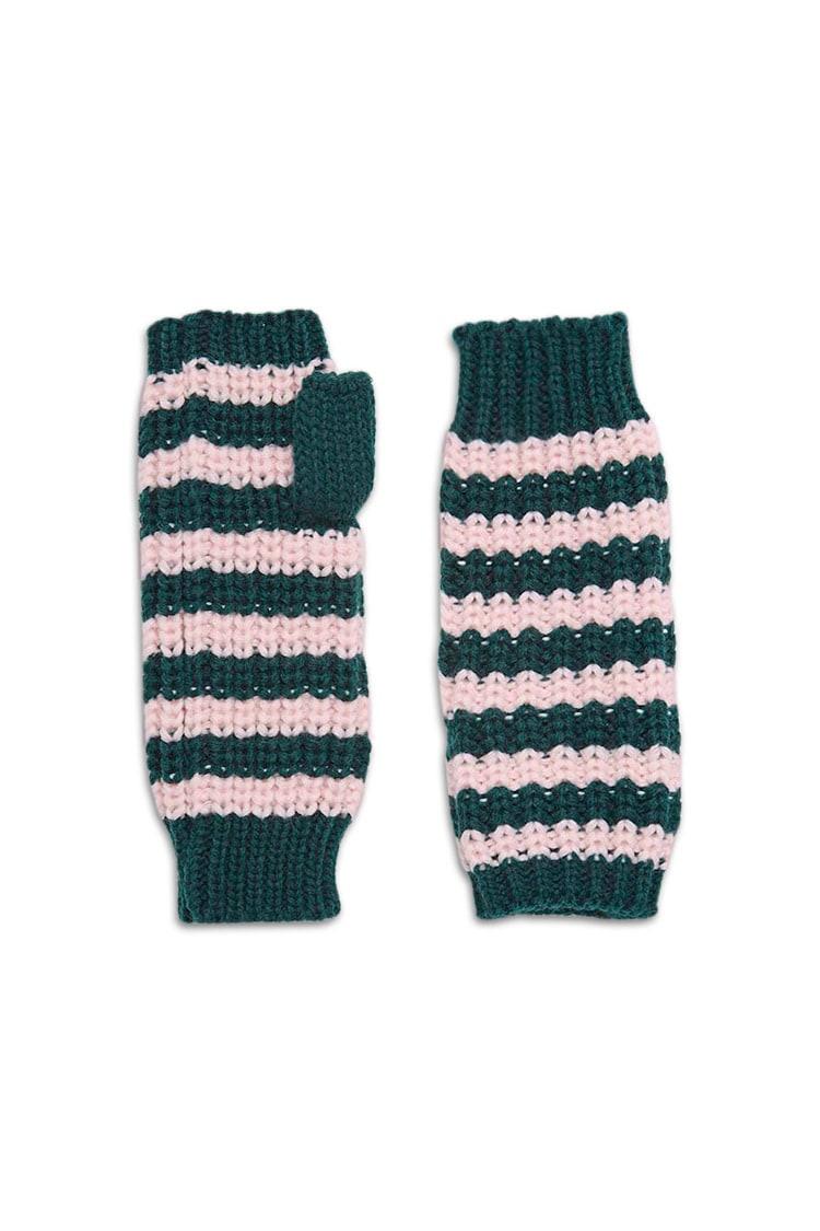 F21 Striped Fingerless Gloves