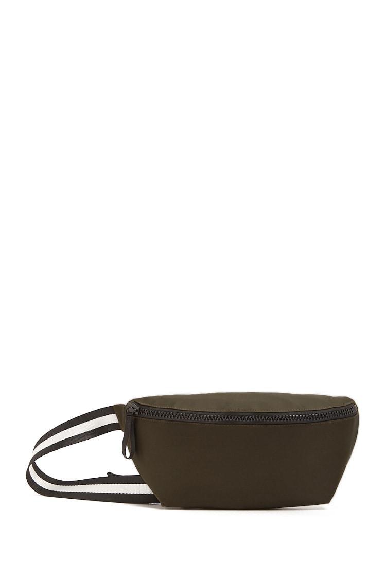 F21 Striped-Trim Sling Bag
