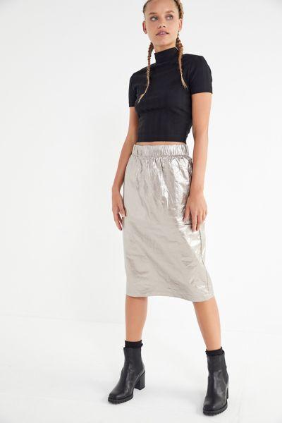 Stussy Vera Metallic Midi Skirt