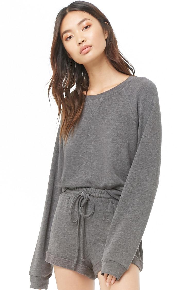 F21 Sweatshirt & Shorts Set